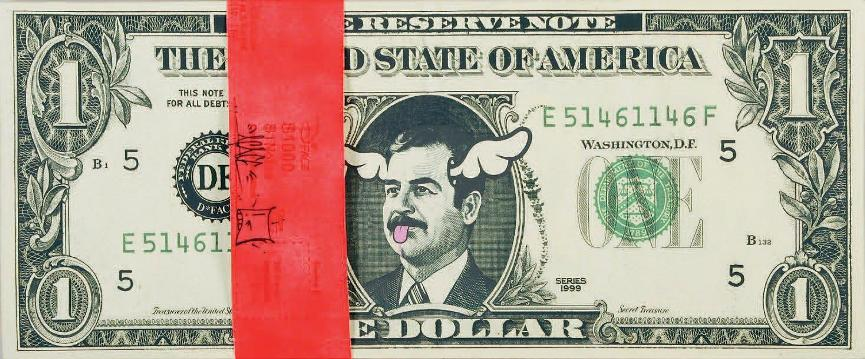 D*Face - Saddam Dollar, 2006 (35 x 84,5 cm)