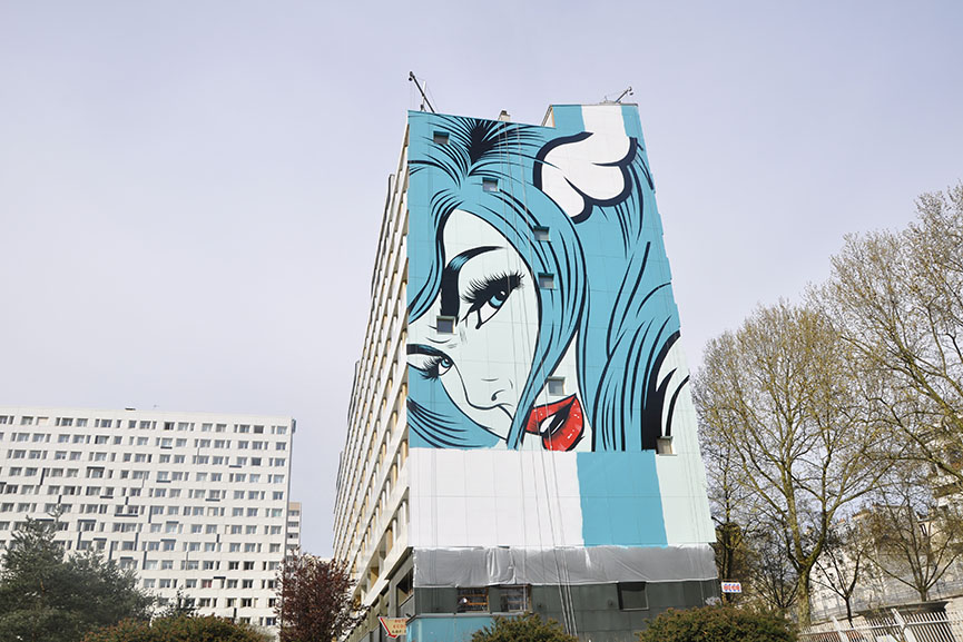 D*Face mural in Paris 2018