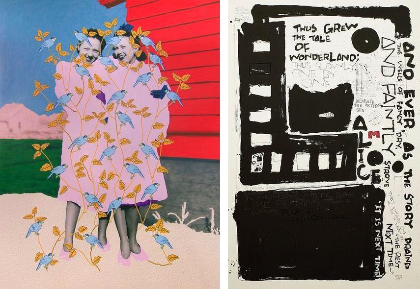 Daisy Patton - Untitled (Sisters in Fur Coats with Birds), Mizuho Koyama - ALICE. Gallery KITAI