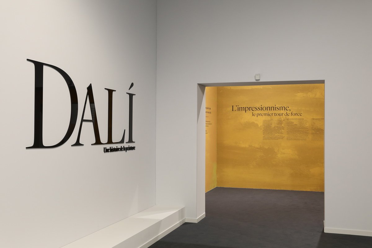 Dali a history of painting Installation view