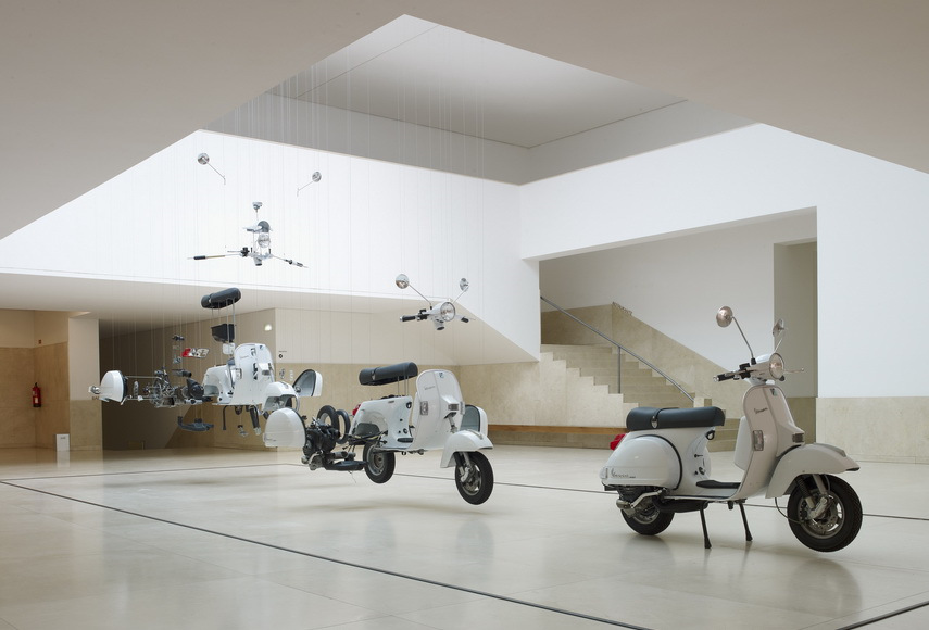 The artists work with the Beetle and other objects were on view in museum in 2013