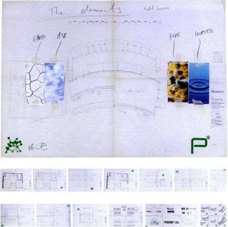 Damien Hirst-Architectural Plans for the Original Construction of Pharmacy-1998