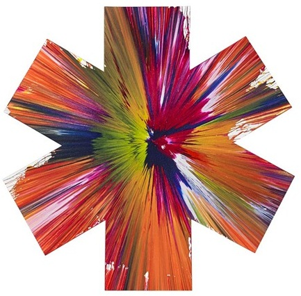 Damien Hirst-Asterisk Spin Painting (Created at Damien Hirst Spin Workshop)-2009