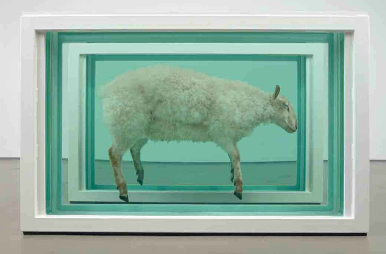 Damien Hirst-Away From the Flock (Divided)-1995