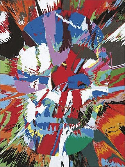Damien Hirst-Beautiful Airmid Dysmorphia Intense Painting (with Extra Inner Beautty)-2008
