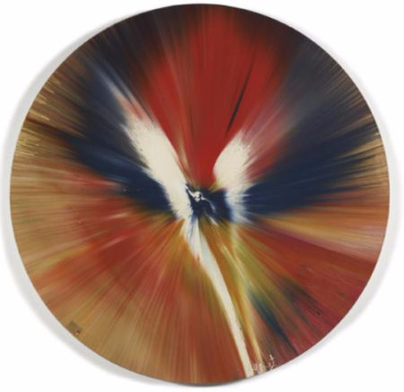 Damien Hirst-Beautiful Asthma, Abestosis the Light at the End of the Tunnel No Use Crying Over Spilt Milk Painting-2005