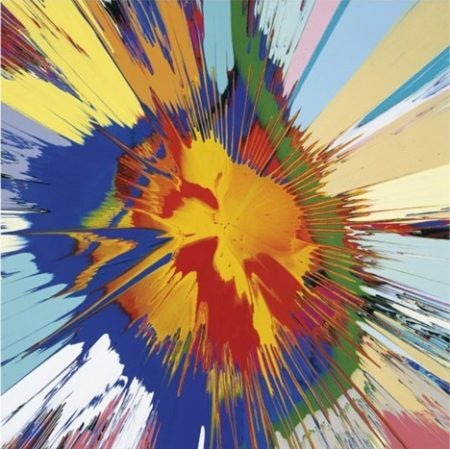 Damien Hirst-Beautiful Atomic Collision of Flames Force of Nature-2008