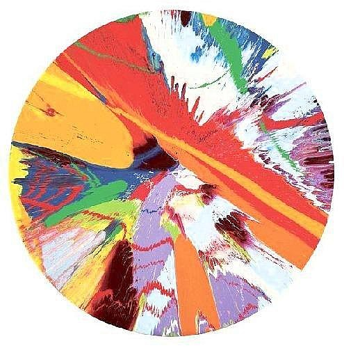 Damien Hirst-Beautiful Axe, Slash Gosh Painting-1999