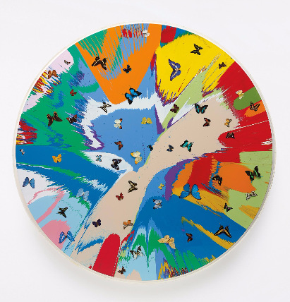 Damien Hirst-Beautiful, Beautiful, Charity Childrens, Spin Painting (with Butterflies)-2007