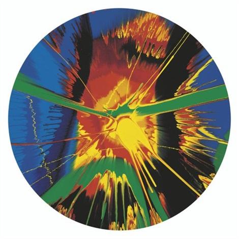 Damien Hirst-Beautiful Black Hole, Time Warp, Retina Burn, Shit That's Hot Painting-2008