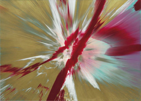 Damien Hirst-Beautiful Bleeding Wound Over The Materialism Of Money Painting-2005