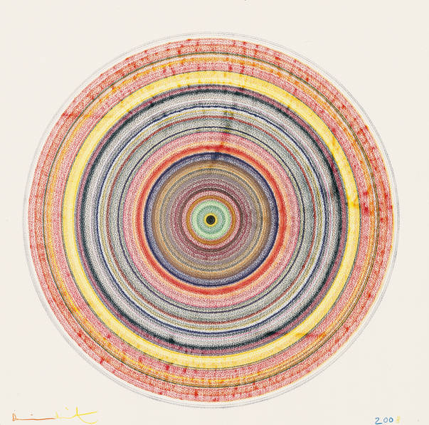 Damien Hirst-Beautiful Bullseye Drawing-2008
