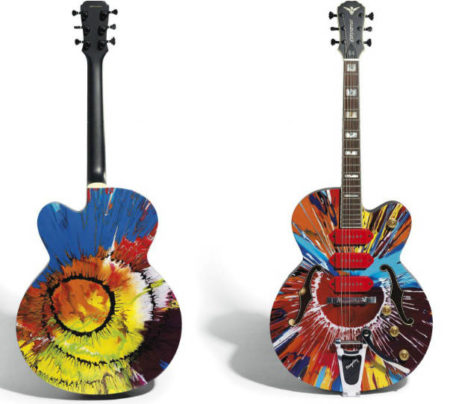 Damien Hirst-Beautiful Charity Spin Guitar-2010