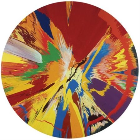 Damien Hirst-Beautiful, Childish, Expressive, Tasteless, Not Art, Over Simplistic, Throw Away, Kids Stuff, Lacking Integrity, Rotating, Nothing But Visual Candy, Celebrating, Sensational, Inarguably Beautiful Painting (For Over The Sofa)-1996