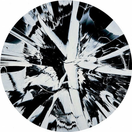 Damien Hirst-Beautiful Cinematic Photographic, Yin, Yang, Black and White, Life and Death Noir Painting for Tim-2007