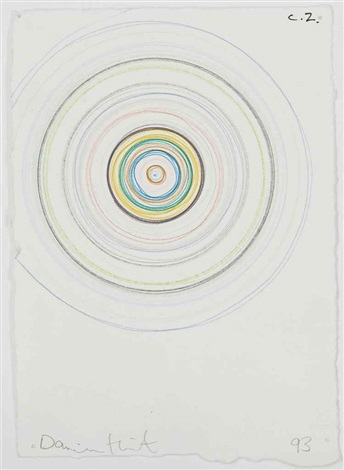 Damien Hirst-Beautiful Dynamic Depressive Accelerating Drawing-1993
