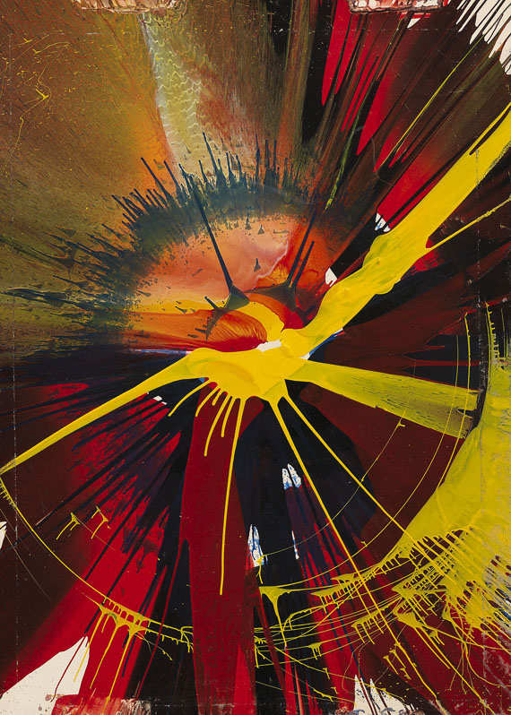 Damien Hirst-Beautiful Exploding Spinning Spiral Painting-1993