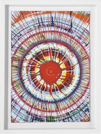 Damien Hirst-Beautiful Exploding Sun Drawing-2008