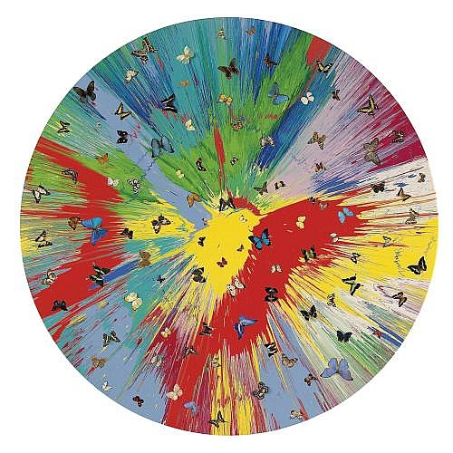Damien Hirst-Beautiful Explosion of Vanity Painting (With Butterflies)-2007