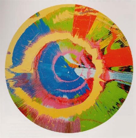 Damien Hirst-Beautiful, Fleshy, Spinning, Expensive, Expansive MTV Painting-1995