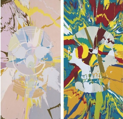 Damien Hirst-Beautiful Hathor Erotomania Intense Painting, Beautiful Ceres Intense Anhedonia Painting-2008