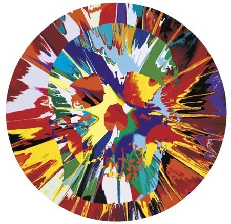 Damien Hirst-Beautiful Helios Hysteria Intense Painting (with Extra Inner Beauty)-2008