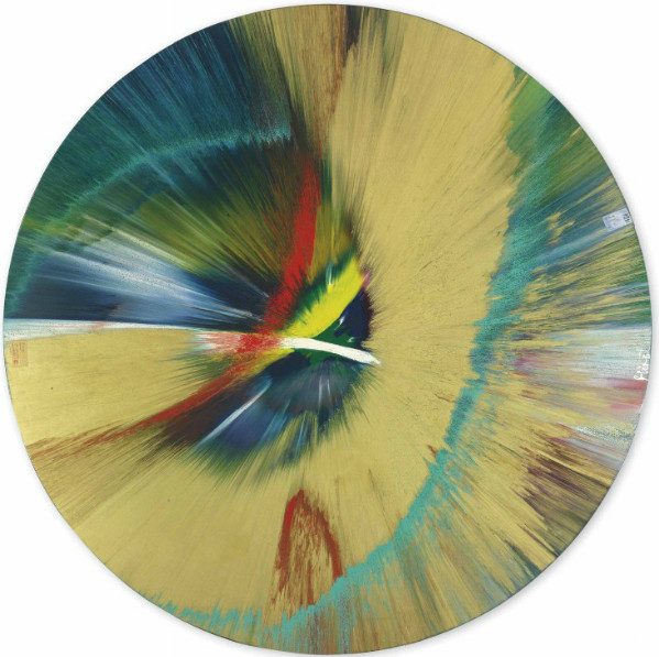 Damien Hirst-Beautiful, I Pushed the Controls and Ahead of Me Rockets Blazed, I Don't Want to be a Dead Artist Painting-2005