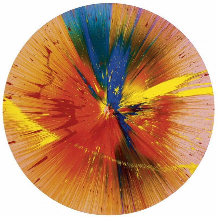 Damien Hirst-Beautiful Ice Scream Sunburst Painting for Fun-2006