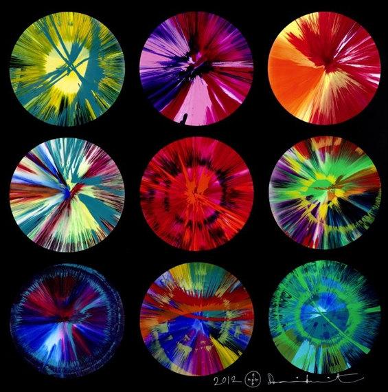 Damien Hirst-Beautiful Intergalactic Fantasmagoria in a Rainbow Big Bang Explosion-2012