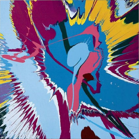 Damien Hirst-Beautiful Jaggy Snake Charity Painting-2007