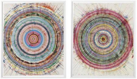 Damien Hirst-Beautiful Jitterbug Drawing, Beautiful Spidery Accelaration Drawing-2008