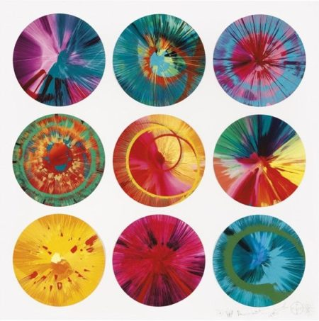Damien Hirst-Beautiful, Lizards Vortex of Yeah, It's Love that Makes the World go Round and Round and Round, With or Without God, Somehow We'll be Spinning Forever Charity Painting-2012