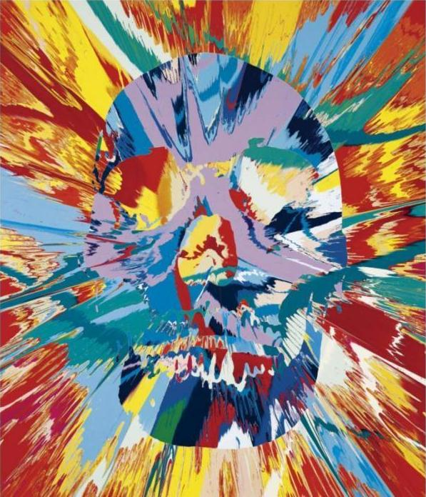 Damien Hirst-Beautiful Maat Intense Feetishistic Painting (with Extra Inner Beauty)-2008