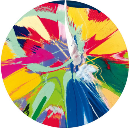 Damien Hirst-Beautiful Mangos On Acid Painting (With Minty Spunk)-1996