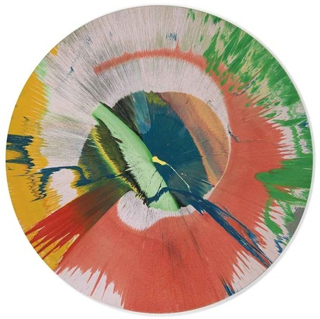 Damien Hirst-Beautiful Merging Vortex Primordial Gas and Ooze Painting-2004