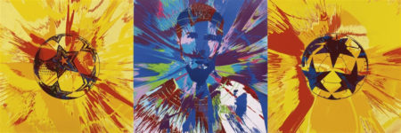 Damien Hirst-Beautiful Messi Spin Painting for One in Eleven-2014