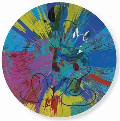 Damien Hirst-Beautiful Mickey Mouse Painting-2013