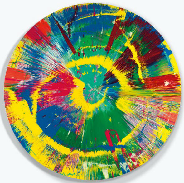 Damien Hirst-Beautiful Mis-shapen Purity Clashing Excitedly Outwards Painting-1995