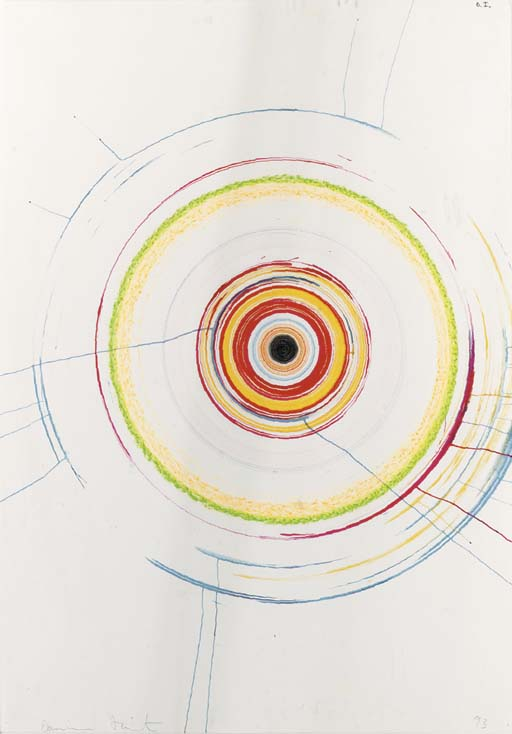 Damien Hirst-Beautiful Obliterating Accelerating Psychotic Drawing-1993