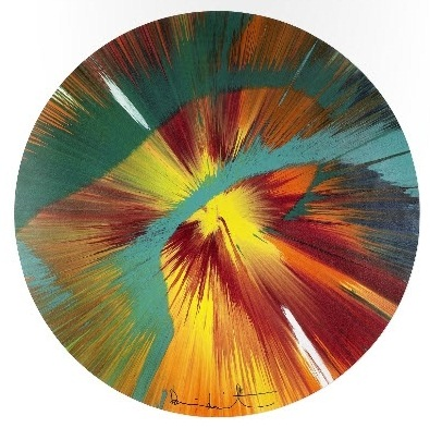 Damien Hirst-Beautiful Paper Spin for Situation Gigi-2012