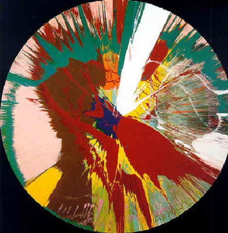 Damien Hirst-Beautiful, Priapic, Centrifugal, Shit and Blood, Vortex Painting-1995