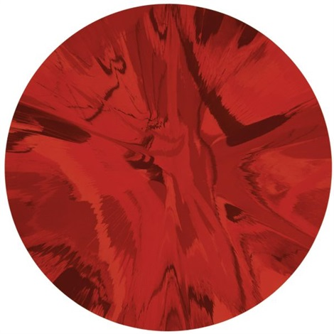 Damien Hirst-Beautiful Red Spin Painting-2007