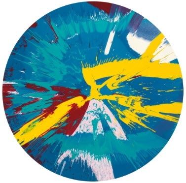 Damien Hirst-Beautiful, Runny Egg on a Summers Day Nose Bleed Painting-2006
