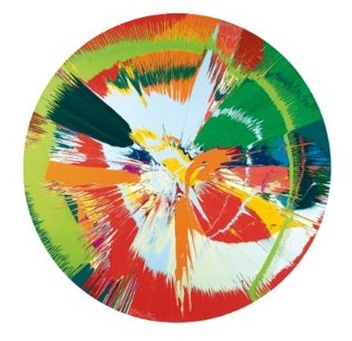 Damien Hirst-Beautiful, Shattered, Mellow, Exploding, Paint-filled Ballons-1996