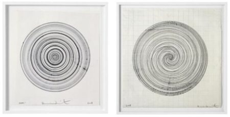 Damien Hirst-Beautiful Spinny Drawing, Beautiful Hypnotism Silence Is Golden Drawing-2008