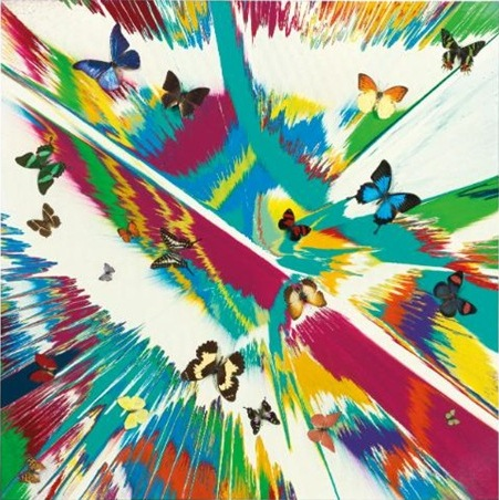 Damien Hirst-Beautiful Spring in the Arctic Painting-2007