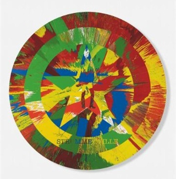 Damien Hirst-Beautiful Strummerville Spin, the Future is Unwritten Painting-2010