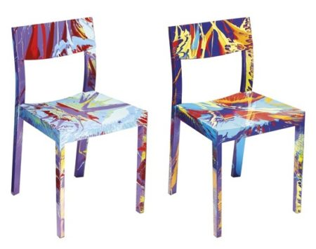 Damien Hirst-Beautiful Vainglorious Spin Chair, Beautiful Poker Face Spin Chair-2012