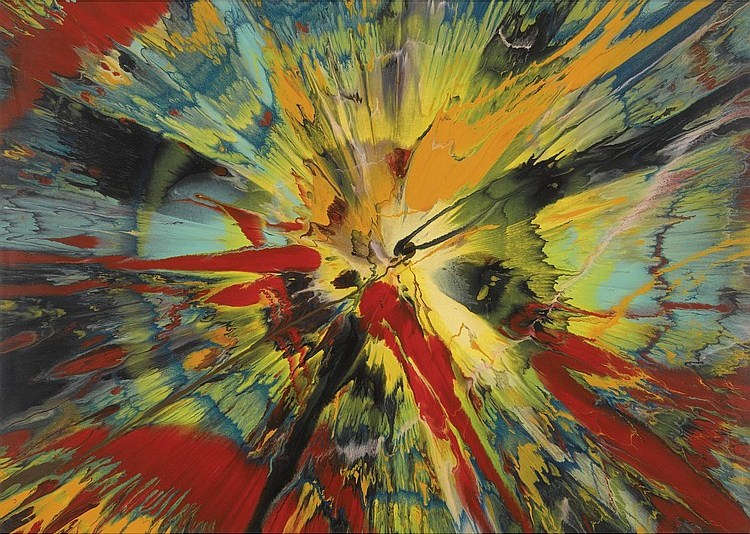 Damien Hirst-Beautiful is This What the Big Bang Looked Like Painting-2005