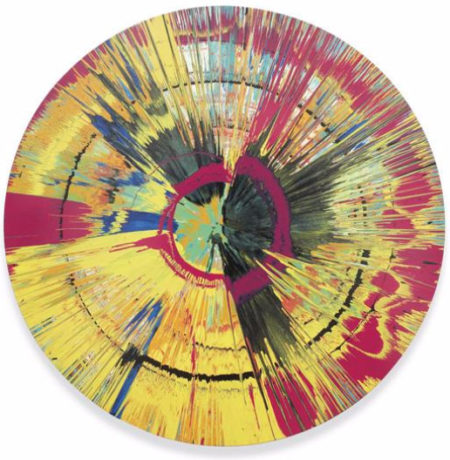 Damien Hirst-Beautiful Like a Rainbow Gone Wrong Painting-2005